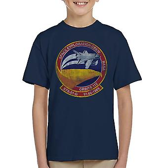 NASA STS 51 G Discovery Mission Badge Distressed Kid's T-Shirt