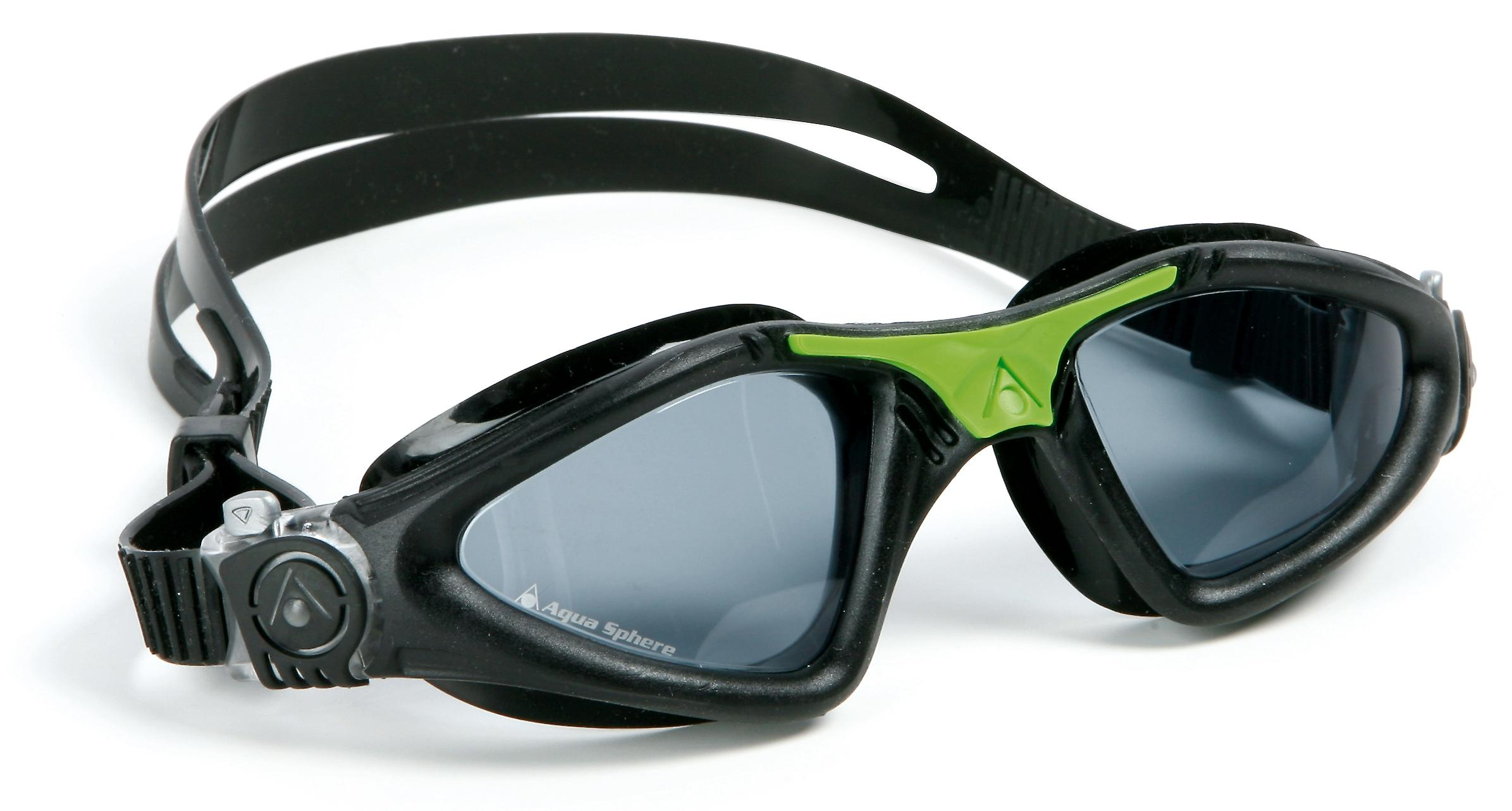 Aqua Sphere Kayenne Swimming Goggle - Smoke Lenses - Black/Green