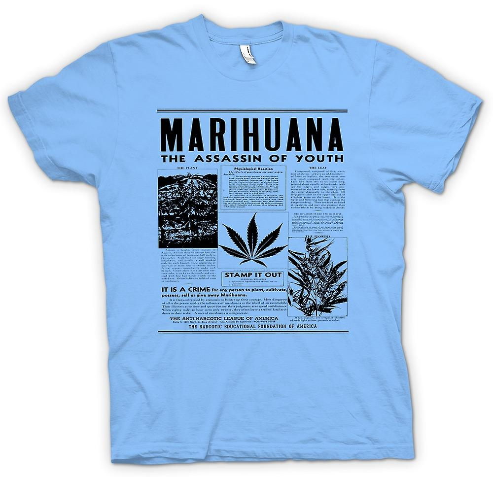 Mens T-shirt - Marihuana Hash - Assassin Of Youth