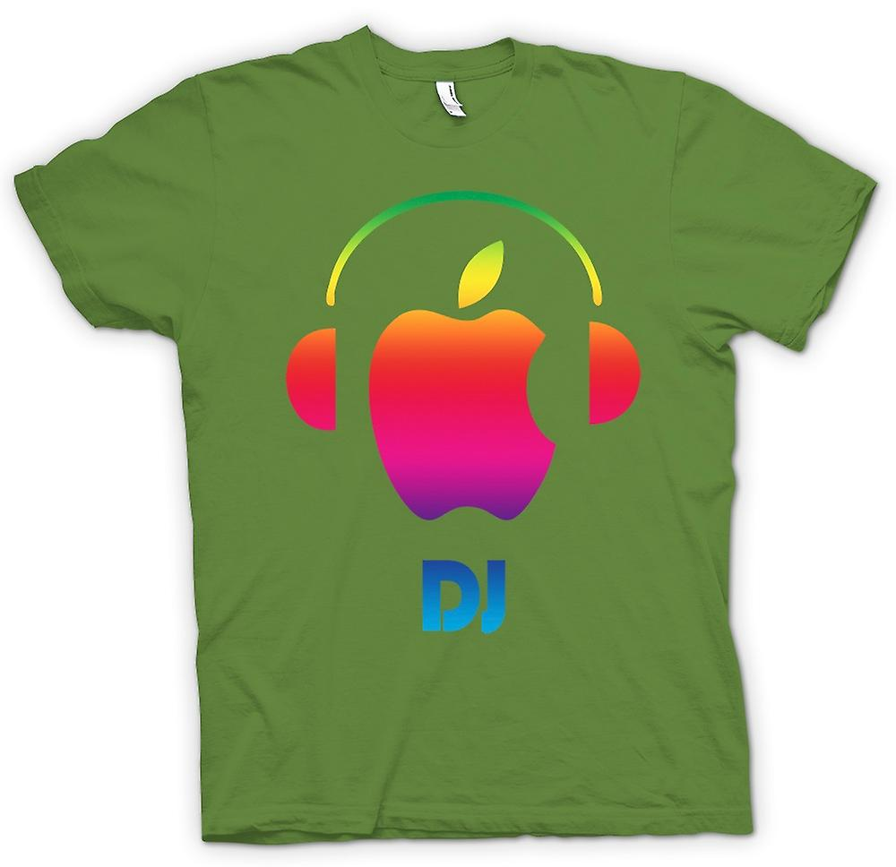 Mens t-shirt - Apple - cuffie per DJ
