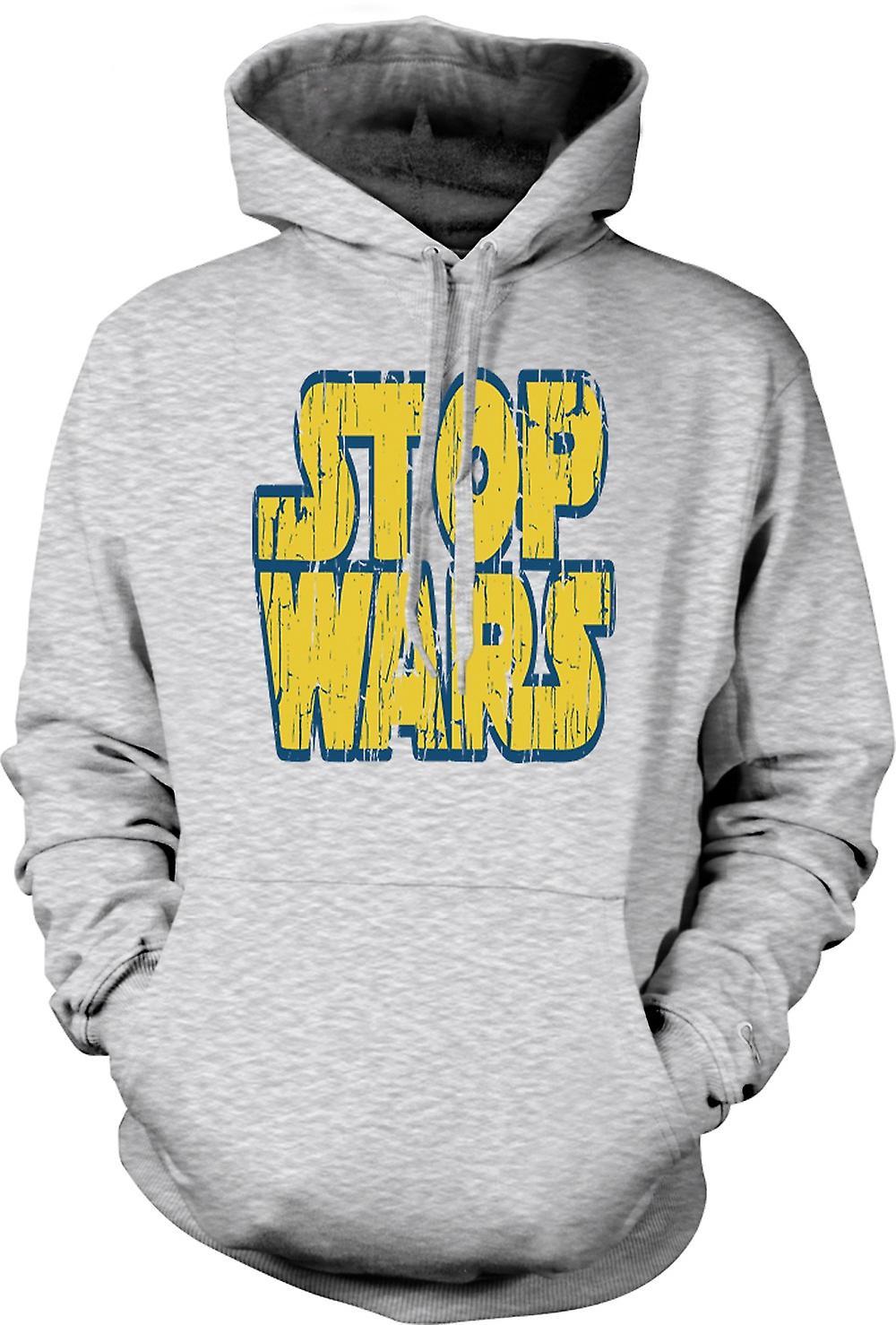 Mens Hoodie - Stop krig (Star Wars) - konspiration - Funny