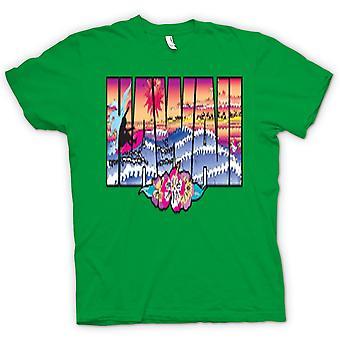 Mens t-shirt-Hawaii Lettering con 80s Design