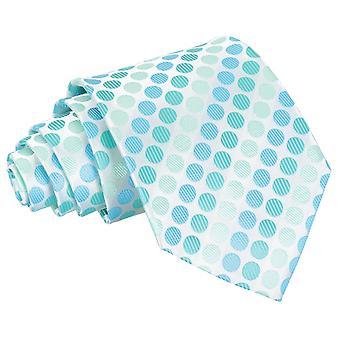 Aqua blå Pastel Polka Dot klassisk slips