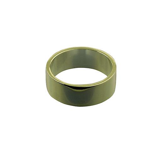 9ct Gold 8mm plain Flat Wedding Ring