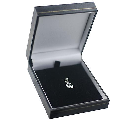 Silver 8x6mm Claddagh Pendant or Charm