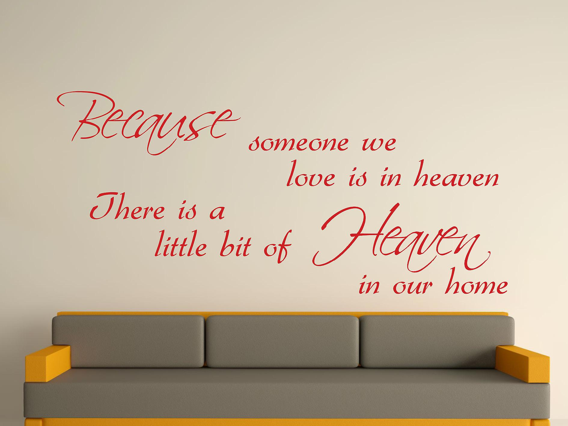 Because Someone Wall Art Sticker - Deep Red