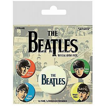 The Beatles (Band) 5 round Pin Badges in Pack (py)