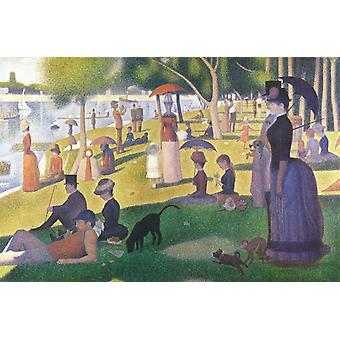 Sunday Afternoon on the Iceland of La, Georges Seurat, 40x60cm with tray