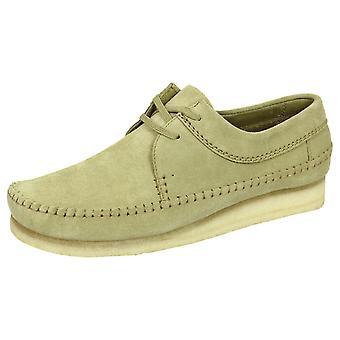 Sapatos de camurça de maple Clarks originais tecelão masculino