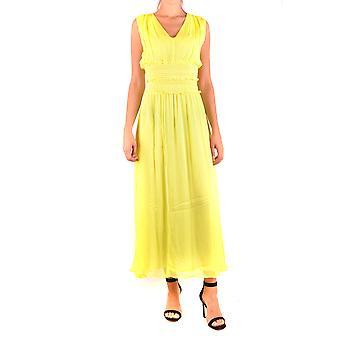 Pinko Yellow Viscose Dress