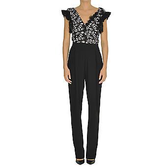 Pinko Black Polyester Jumpsuit