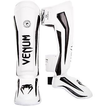 Venum Elite MMA Shinguards with Instep - White/Black