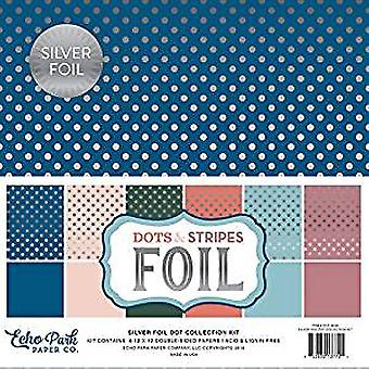 Echo Park Paper Spring Silver Foil Dot 12x12 Inch Collection Kit (DSF18026)