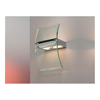 Schuller Modern Clear Curved Glass Wall Lamp