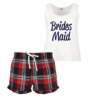 Brides Maid Tartan Frill Pyjamas