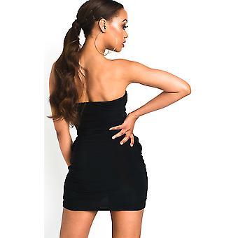 IKRUSH Womens Nicci Slinky Bandeau Mini Dress