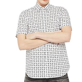 Mirco Print Shirt met diesel SAkura korte mouwen
