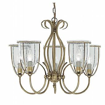 Searchlight Silhouette 6355-5AB 5 Traditional Pendant