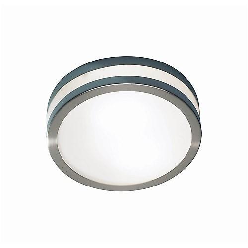 Dar CYR5046/28LE Cyro Modern Satin Low Energy Bathroom Flush Light