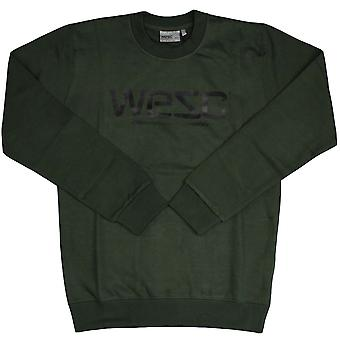 WeSC Men's Crewneck Sweater - Kombu Green