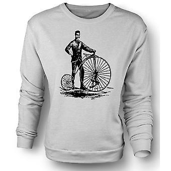 Womens Sweatshirt Penny Farthing Classic Bicycle
