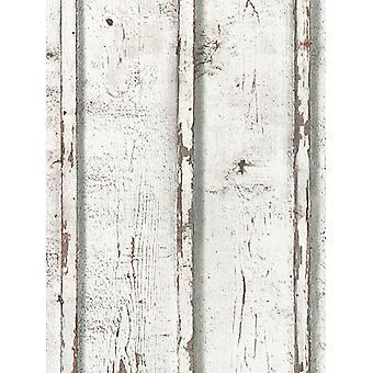 Rustik trä plankor tapet vit som Creation 9537-01