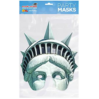 Statue of Liberty Single 2D Card Party Half Face Mask