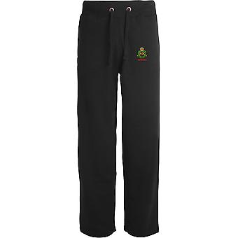 Royal Military Police Veteran - Licensed British Army Embroidered Open Hem Sweatpants / Jogging Bottoms