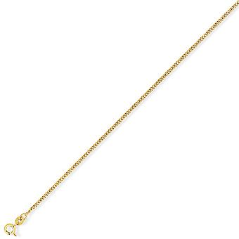Jewelco London 9ct Yellow Gold - Diamond-Cut Tight Curb Pendant Chain Necklace - 1.75mm gauge