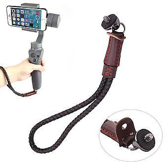 Diy correa de hombro caja fuerte de la línea de la eslinga para dji osmo móvil 2 cámara cardán de mano marrón