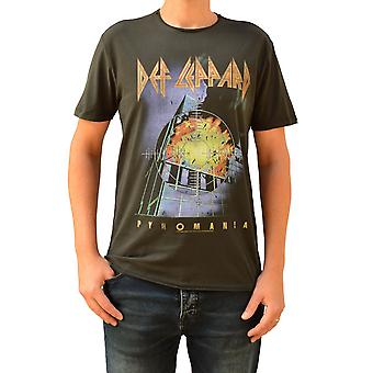 Amplified Def Leppard Pyromania Charcoal Crew Neck T-Shirt S