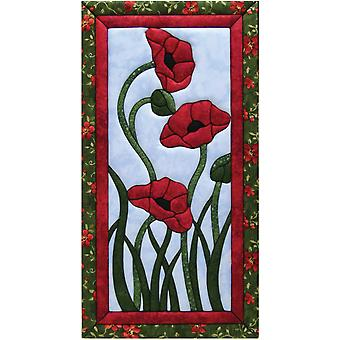 Trio Of Poppies Quilt Magic Kit 10