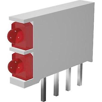 LED component 2x Red, Red (L x W x H) 15.5 x 2.5 x 12 mm Signal