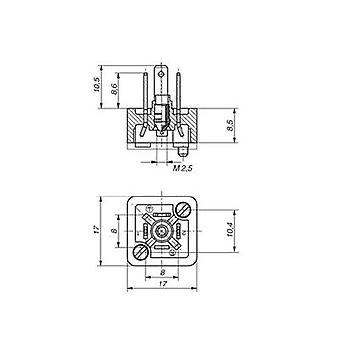 Hirschmann 933 110-100 GSSNA 200 Connector Plug For Threaded Connection Or Sealing. Number of pins:2 + PE
