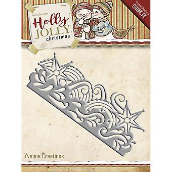 Find It Trading Yvonne Creations Holly Jolly Die-Snowflake Border YCD10069