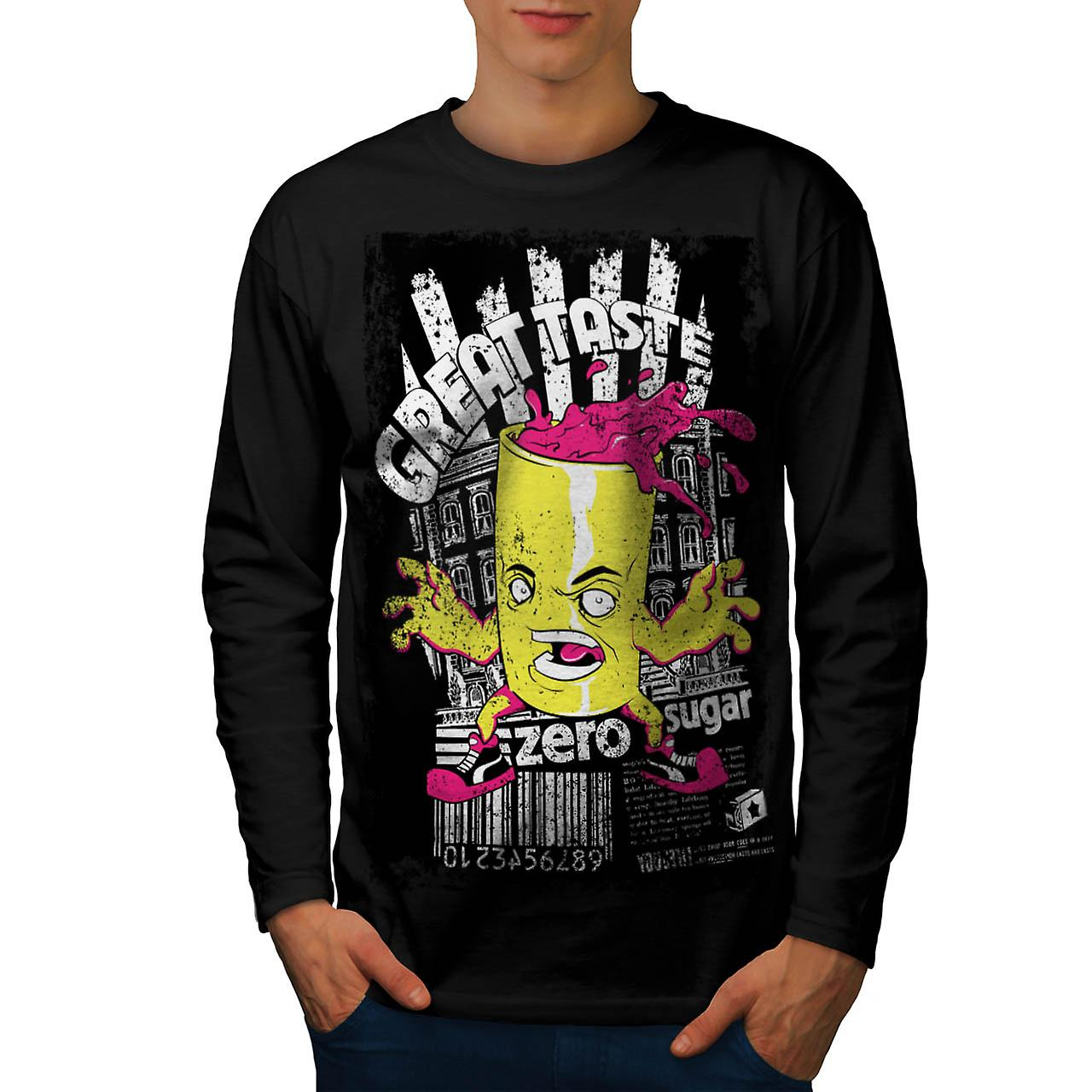 Great Taste Candy Food Men Black Long Sleeve T-shirt | Wellcoda