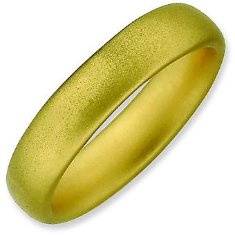 Sterling Silver Stackable Expressions Gold-plated Satin Ring - Ring Size: 5 to 10