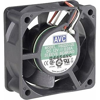 PC fan AVC F6025 (W x H x D) 60 x 60 x 25 mm