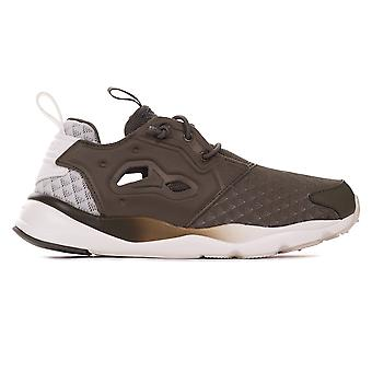 Reebok Classic Furylite Sheer Womens Sports Fashion Trainer Shoe Khaki/White