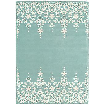 Matrix Blue Baroque Wool  Viscose Vintage Rug