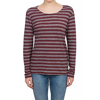 Lee stripe tee long sleeve sweater women's sweater red L42TUMPD