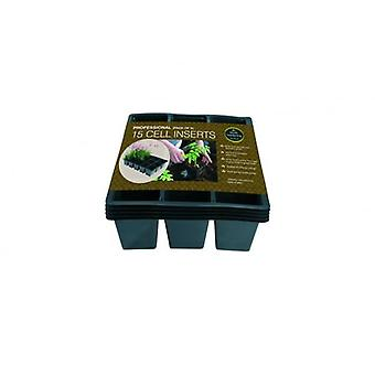 Professional 15 Cell Inserts Pack of 5 For Plants Gardening