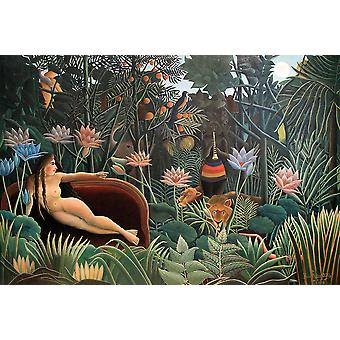 Henri Rousseau - Exotic Forest Poster Print Giclee
