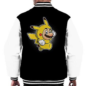 Pika Suit Super Mario Pikachu Pokemon Men's Varsity Jacket
