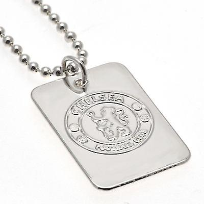 Chelsea Silver Plated Dog Tag & Chain