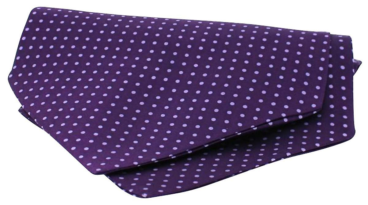 David Van Hagen Twill Silk Self Tie Cravat - Purple/Lilac