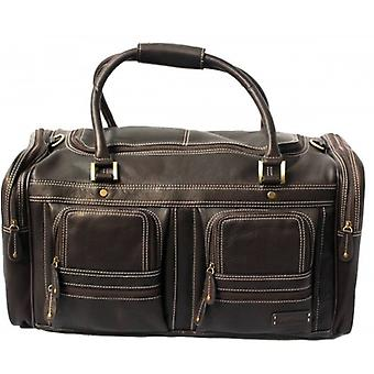 Cortez Leather Travel Bag - Brown