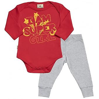 Spoilt Rotten I Am Super Girl Babygrow & Jersey Trousers Outfit Set