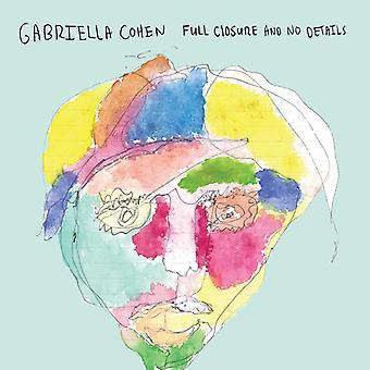 Gabriella Cohen - fuld lukning & ingen detaljer [CD] USA import