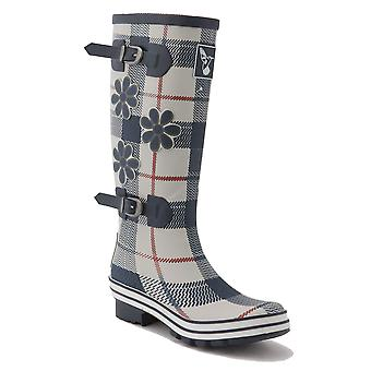 Evercreatures Ladies St George Funky Wellies Tartan Pattern - Various Sizes